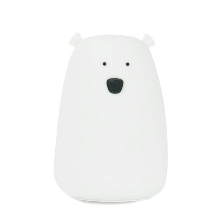natlampe bear i hvid