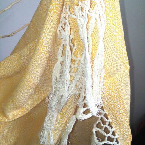 Rebozo sjal i lys gul, fra Mexico 2,5 m