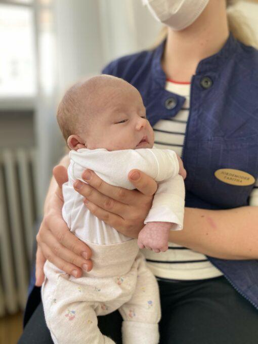 Ammevejleder med baby
