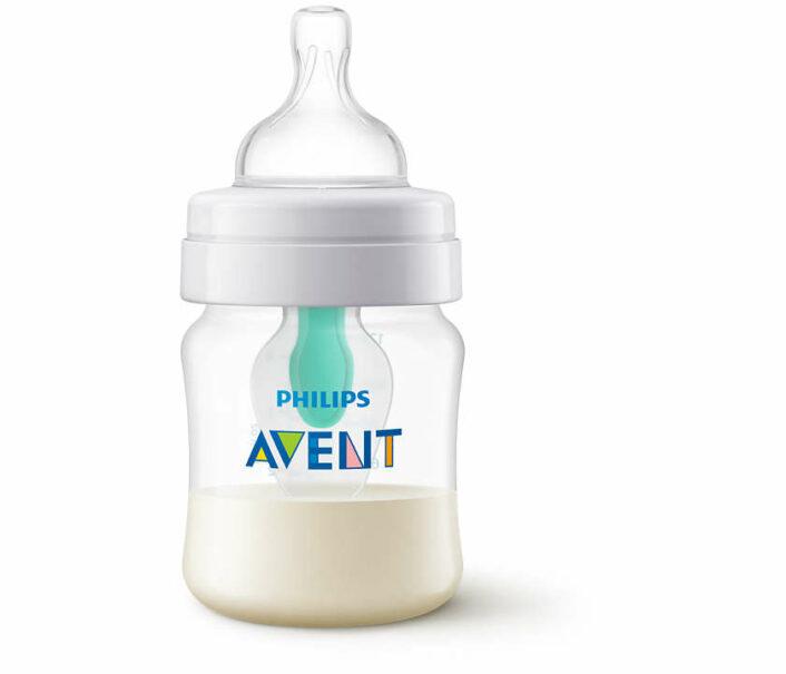 Sutteflaske Anti-colic 4 pak (2x 125 ml. og 2x 260 ml.) + AirFree ventil, flaskebørste og sut