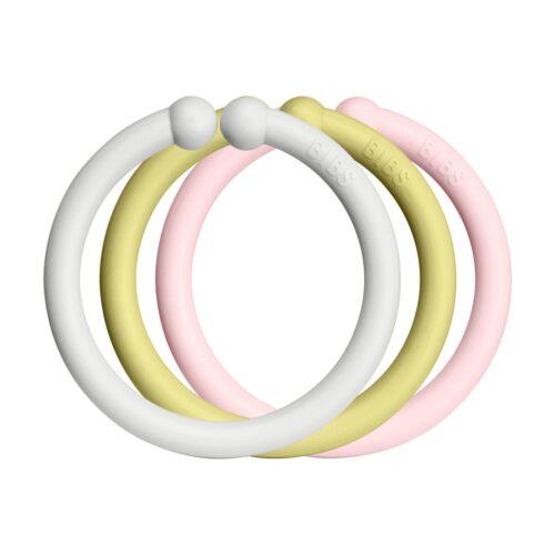 Loops lege ringe fra Bibs I Haze, Meadow og Blossom (12 stk).