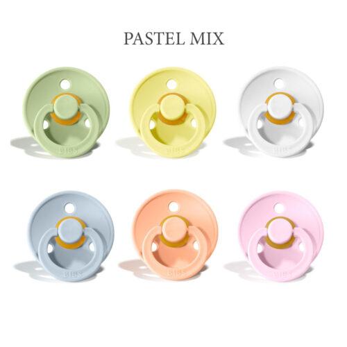 Bibs colour 6 stk Pastel MiX – latex sutter i str. 2