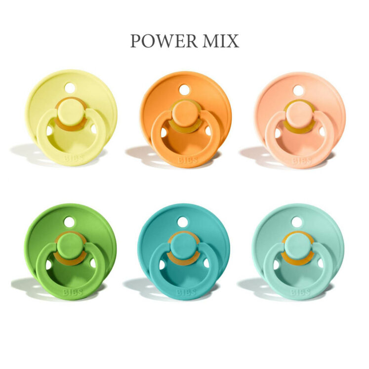 Bibs colour 6 stk Power MIX – latex sutter i str. 2