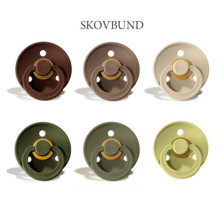 Bibs colour 6 stk Skovbund MiX – latex sutter i str. 2