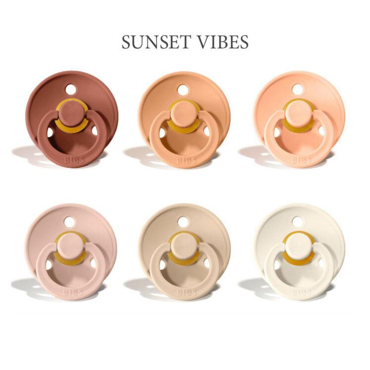 Bibs colour 6 stk Sunset Vibes Mix – latex sutter i str. 2