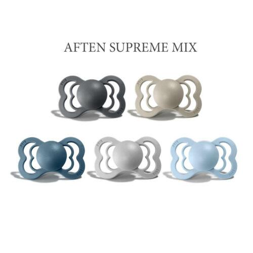 5 stk Aften Mix, Bibs SUPREME sutter i silikone st. 2
