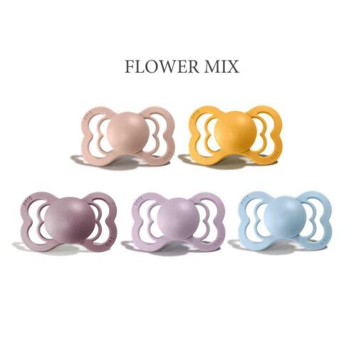 5 stk Flower Mix, Bibs SUPREME sutter i silikone st. 2