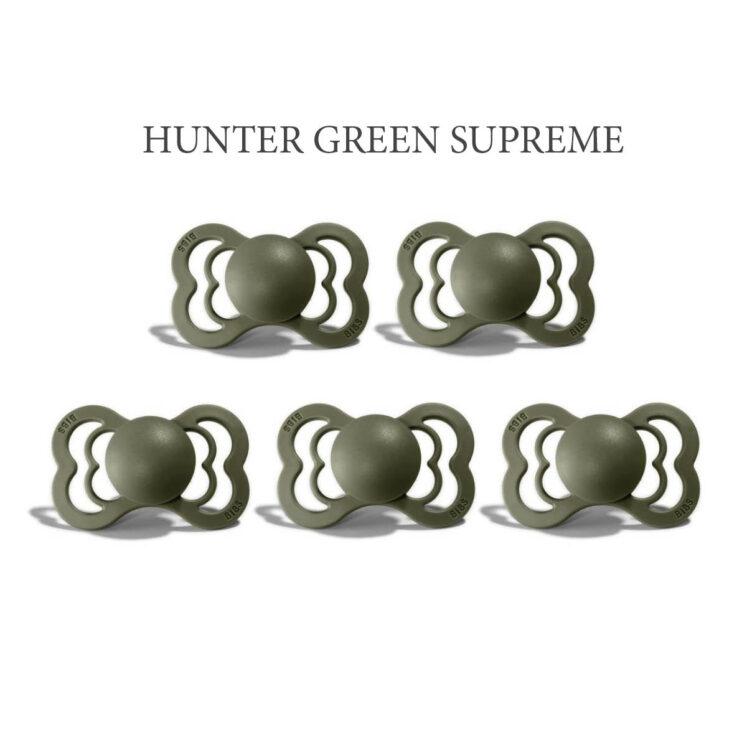 Bibs SUPREME i Hunter Green 5 sutter i silikone st. 2
