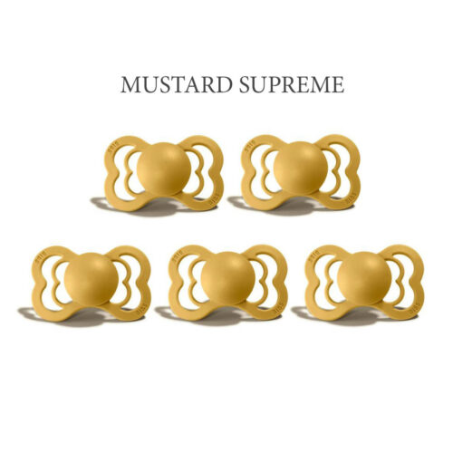 Bibs SUPREME Mustard 5 sutter i silikone st. 2