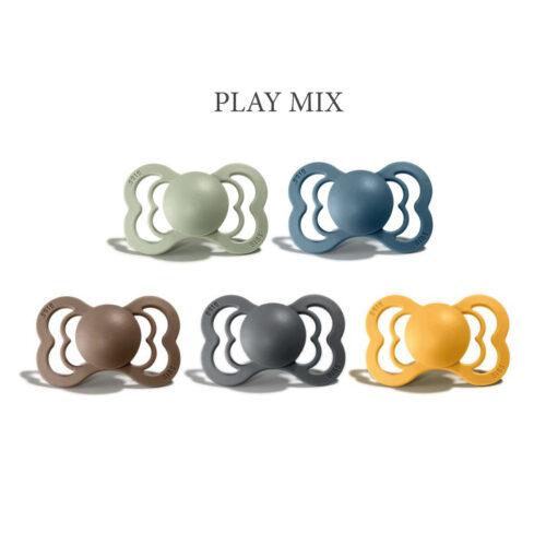5 stk Play Mix, Bibs SUPREME sutter i silikone st. 2