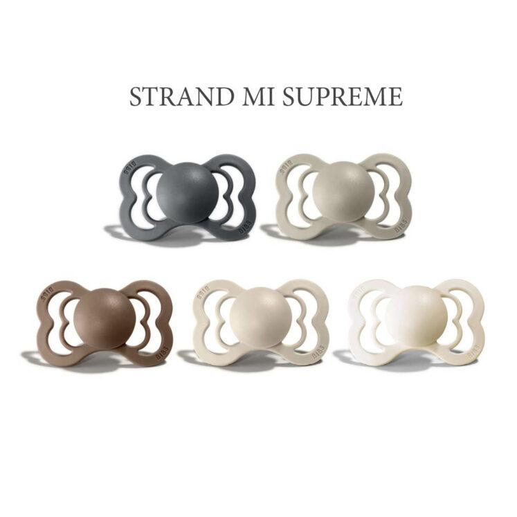 5 stk Strand MIX, Bibs SUPREME sutter i silikone st. 2