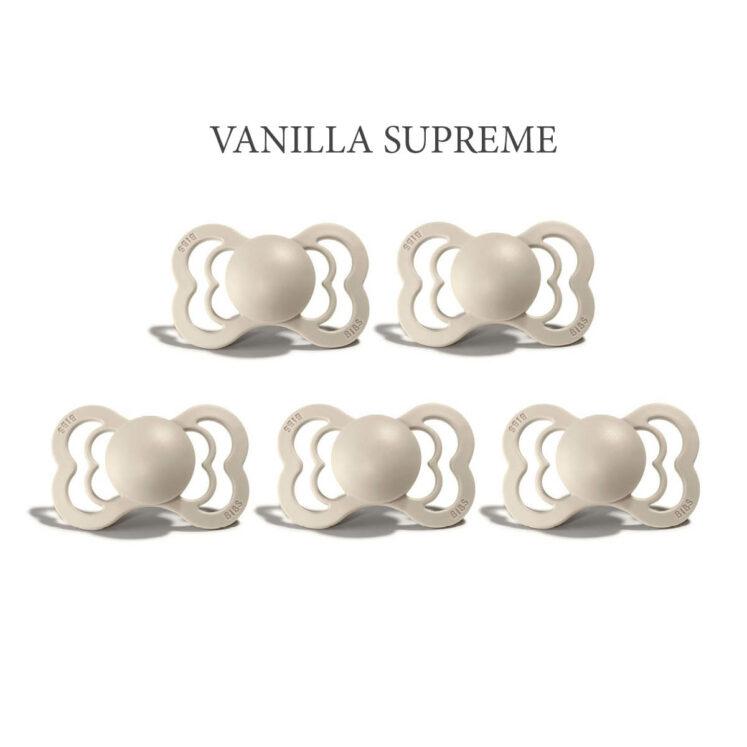 Bibs SUPREME Vanilla 5 sutter i silikone st. 2