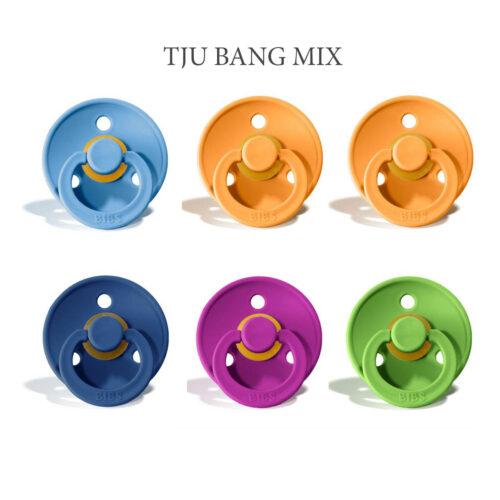 Bibs colour 6 stk Tju Bang MIX – latex sutter i str. 2
