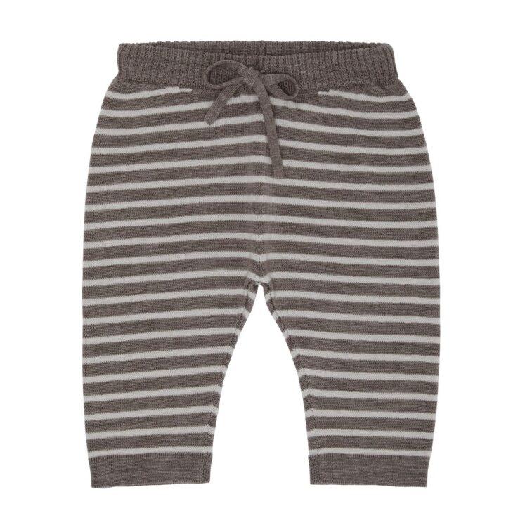 Bukser med striber i Ecru og Beige Melange fra FUB