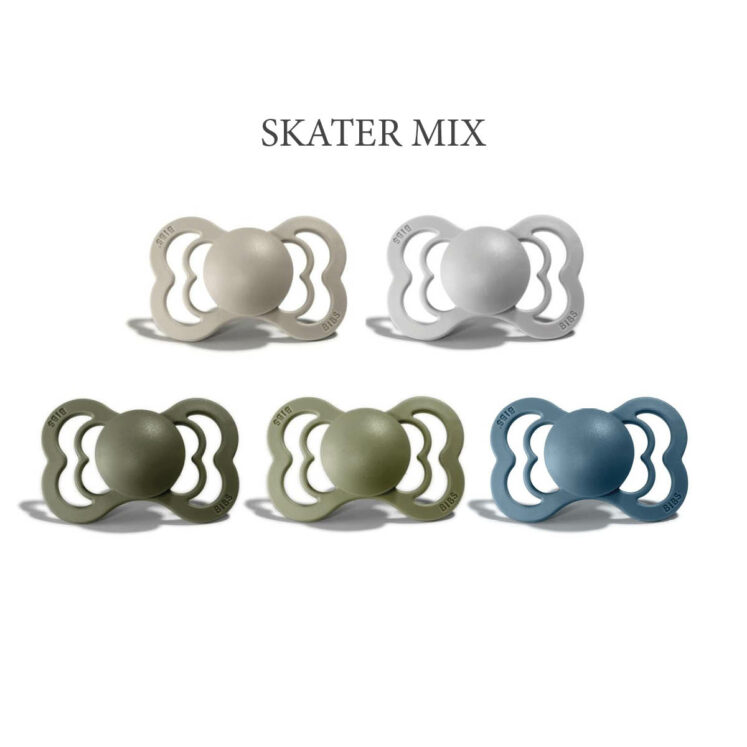 Bibs SUPREME 5 stk SKATER Mix sutter i silikone st. 2